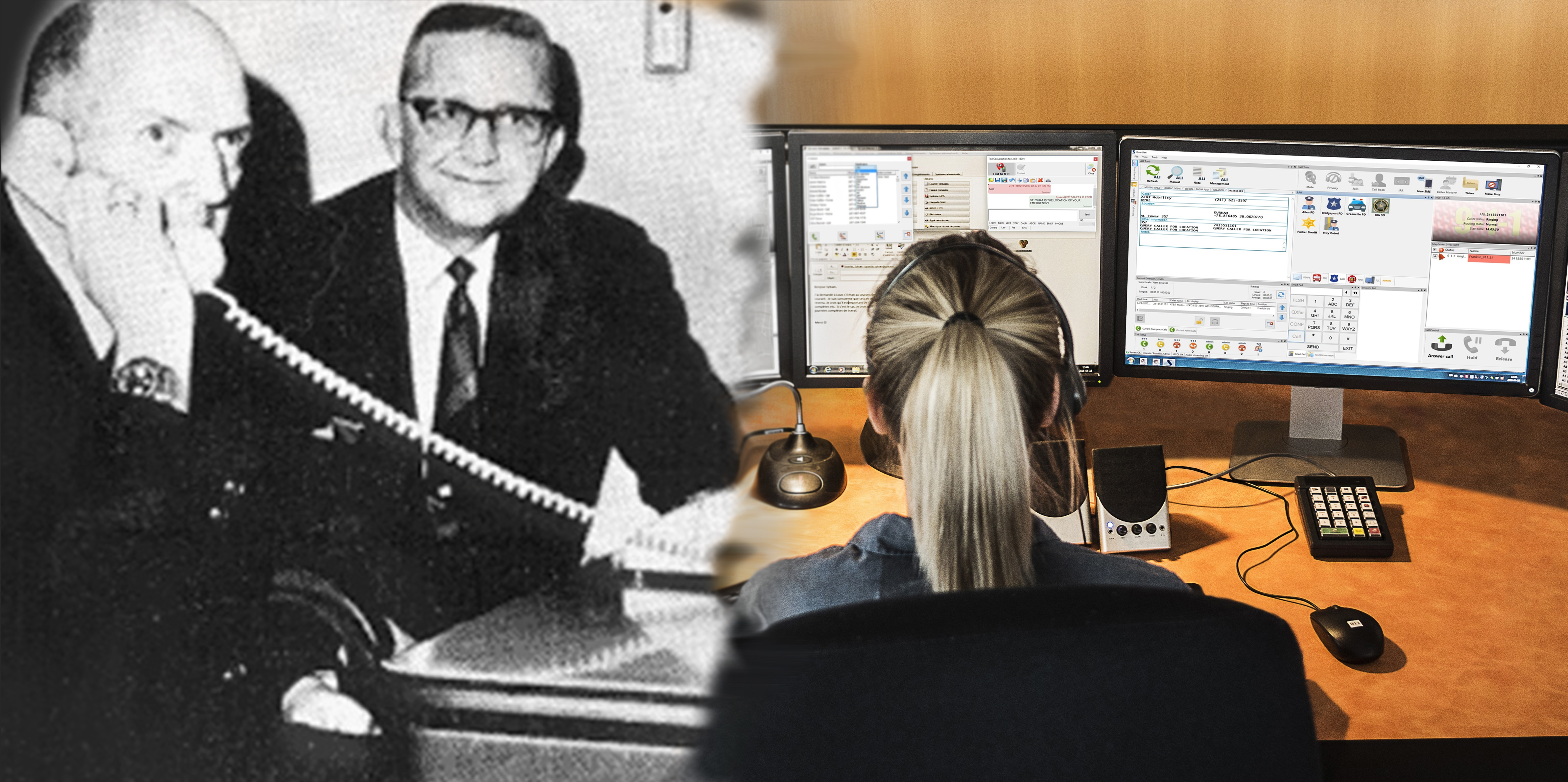 Banner image celebrating 50 years since the first ever 9-1-1 call-871112-edited